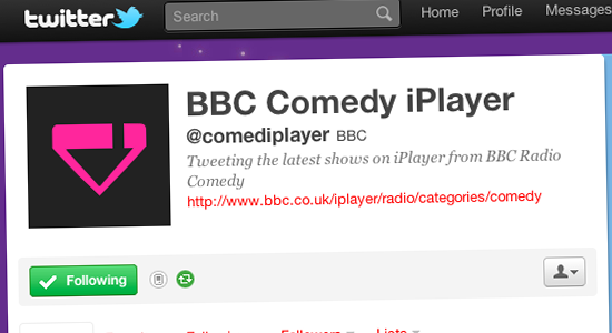 @comediplayer on Twitter