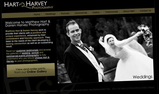 Photography Websites Harvey Photography website