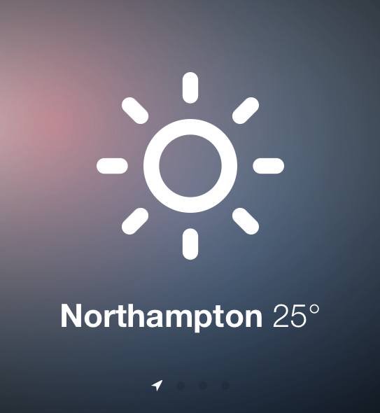 Sun - weather mobile web app